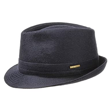 acc4daa055 Stetson Benavides Women's/Men's Trilby Wool hat | Hat Made of Wool Felt |  Made in Italy | Winter hat with Teflon Coating (Water-Repellent) | ...