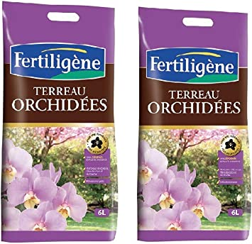 FERTILIGENE Terreau orchidées lot 2 Sacs de 6l FORC6