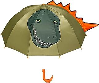 Kidorable marca, Original ombrello per i ragazzi/ragazze/bambini + taglia adulto, dinosauro (Verde) - UMB:DINOSAUR1