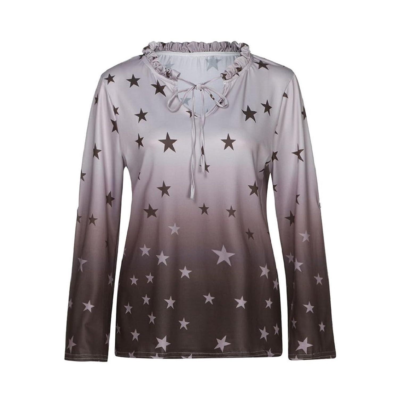 81e2adc1457 good GONKOMA Women Plus Size Tops Blouse Casual Long Sleeve Printed Tunic T-Shirt  Blouse
