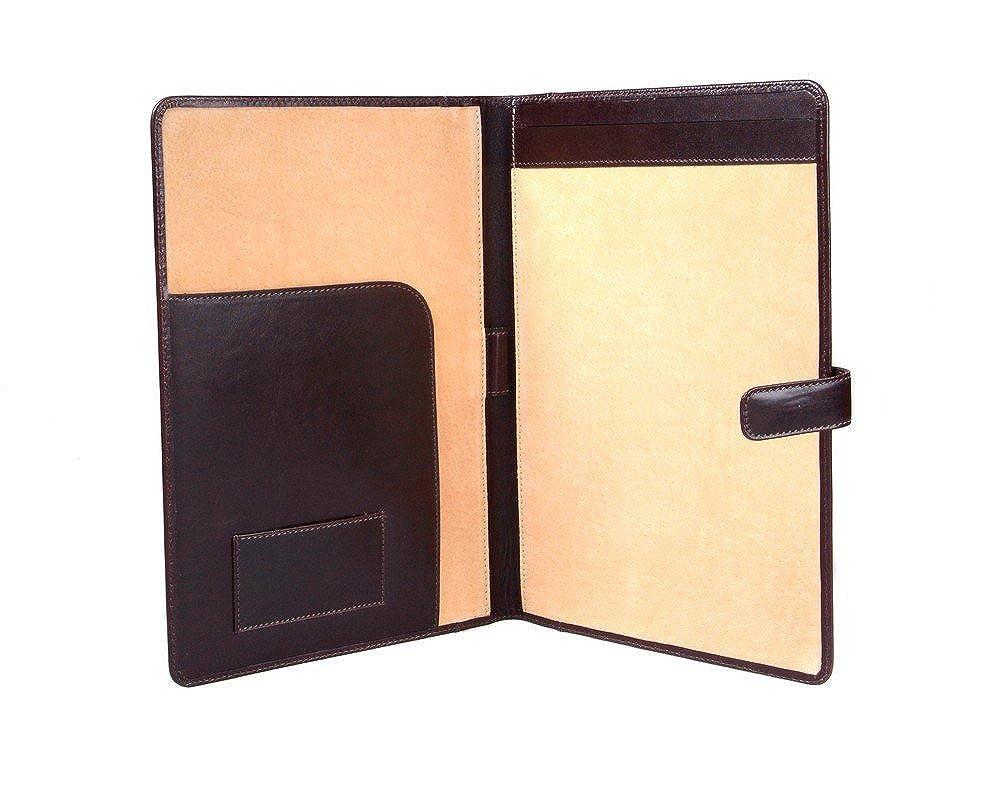 [SAGEBROWN] A4 Leather Folder With Tab Closure  ブラウン B00DEXFGPO