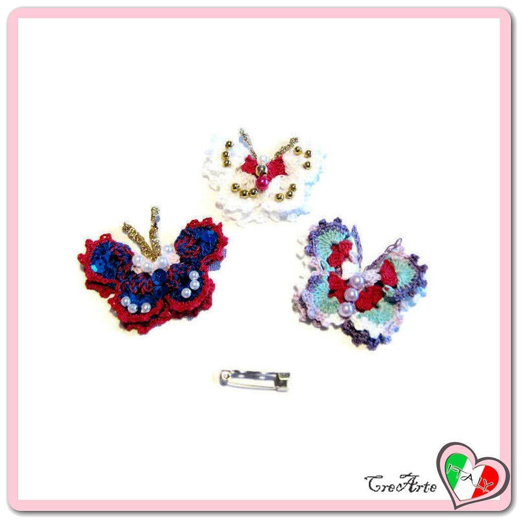 Set 3 mariposas coloridas para aplicaciones, broches o ...