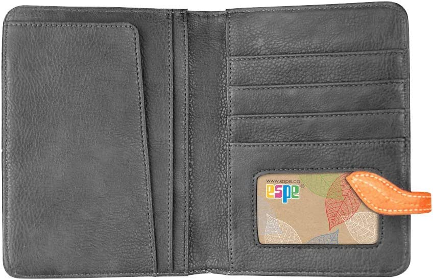 Gray Passport Cover /& Accessories Organizer to Carry Your Travel Documents by Espe