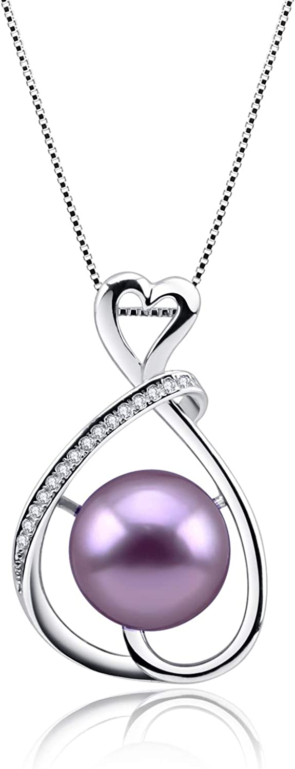 925 Sterling Silver Infinity Pearl Necklace