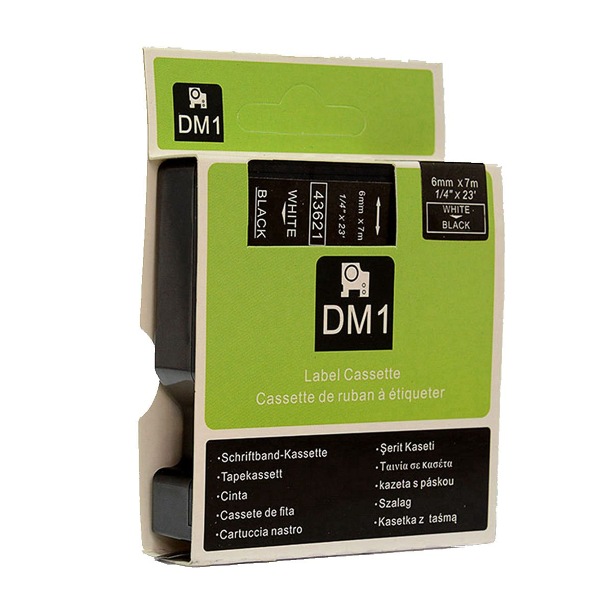 Amazon.com: Hartwii White on Black Label Cassette Compatible for DYMOD1 45811 Label Tape 19mm 7m (3/4 x 23
