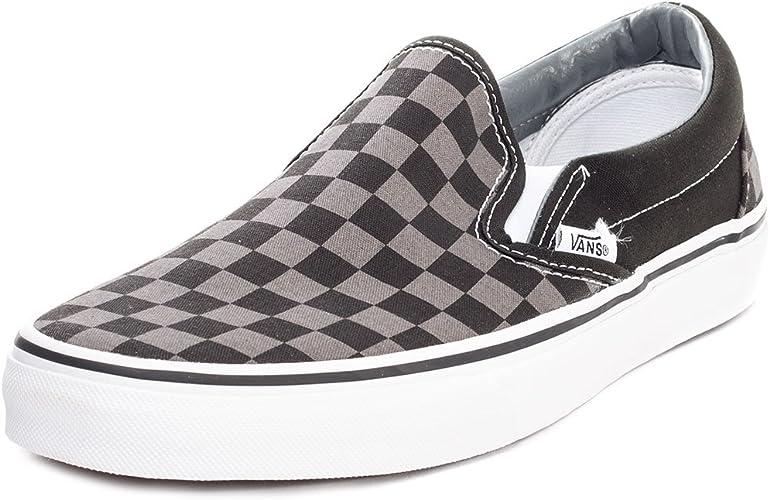 Vans Cso Check Slip On Shoes Black