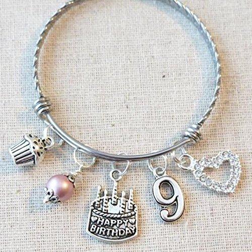 Amazon 9th Birthday Girl 9th Birthday Charm Bracelet 9 Year