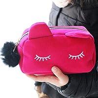 Ruikey Trousse à Stylo Beaute cosmetiques Maquillage Sac De Voyage Chat Mignon Pochette Sac cosmétique, Sacs de Maquillage