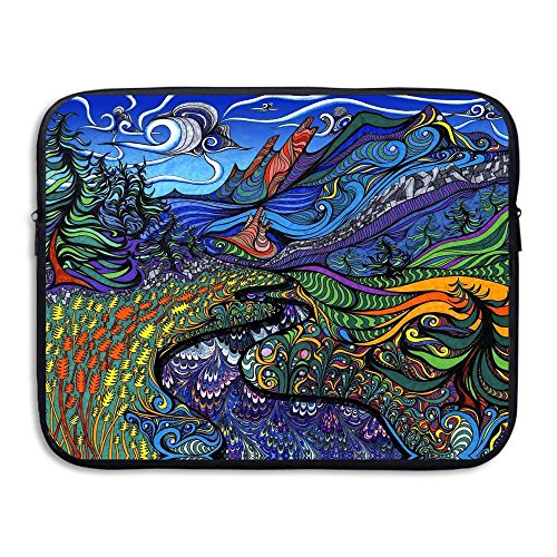 Fashion Colorful Artistic Paint Art Printed Computer Storage Bag Portable Waterproof Neoprene Laptop Sleeve Bag Zipper Pocket Cover SizaName For MacBook Pro, MacBook Air, Notebook ()