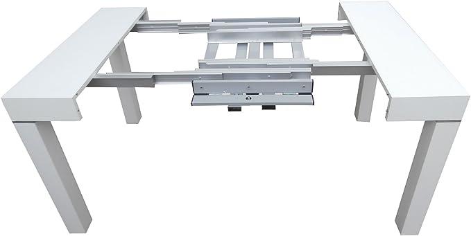 ARREDinITALY Tavolo consolle allungabile da 110x50 a 110x300 cm. Rovere Tortora a poro Aperto. Fino A 12 POSTI