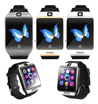 ZRSJ Bluetooth reloj inteligente con cámara, reloj de pulsera SIM ranura para tarjeta SmartWatch reloj de pantalla táctil para Android Samsung iOS ...