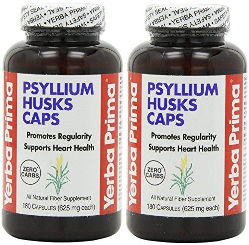 Yerba Prima Psyllium Husks , 625 Mg, 180 Capsules (2 ()