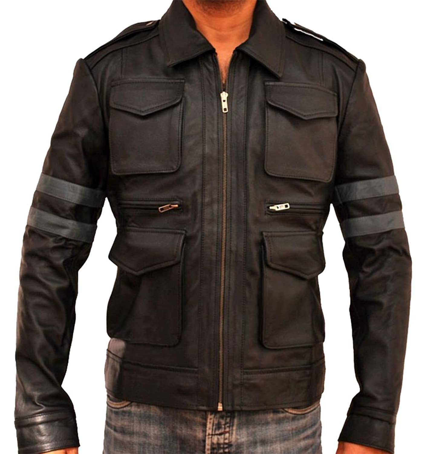 Resident Evil 6 Leon S. Kennedy Real Leather Jacket