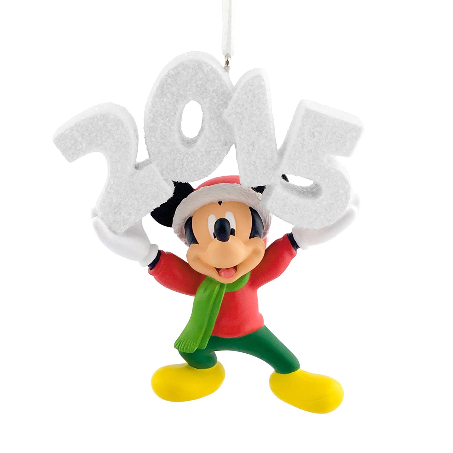 Amazoncom Hallmark Disney Mickey Mouse Dated 2015 Christmas