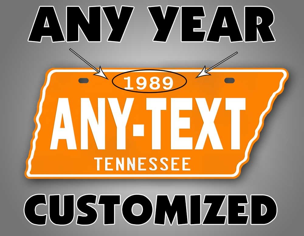 Amazon.com: Antique TN License Plate Orange & White VOLS Vintage ...