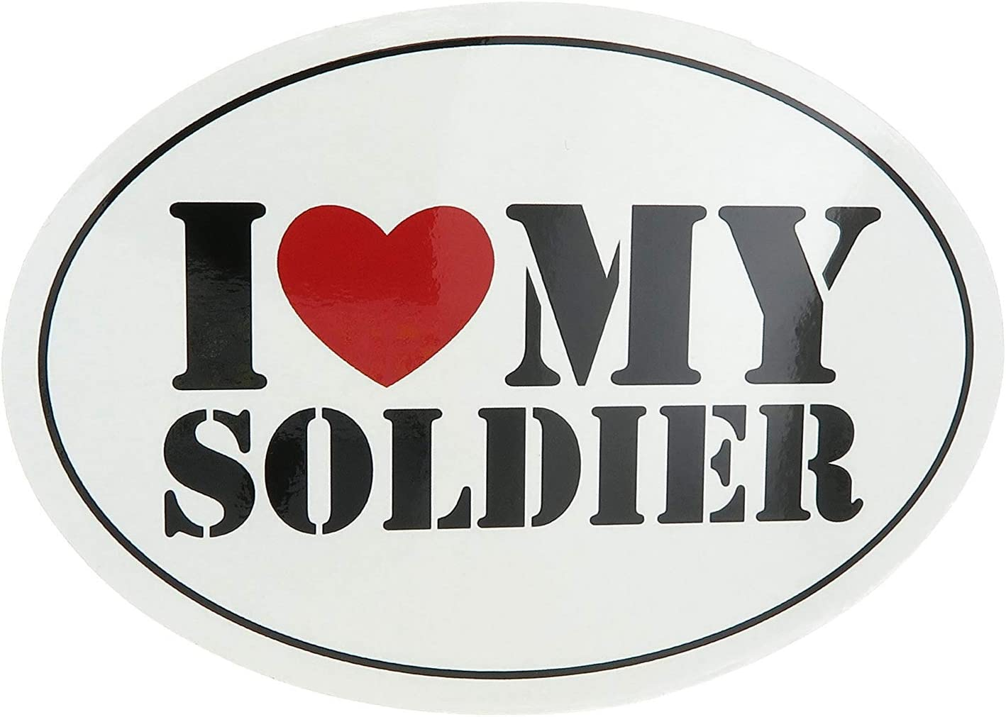 U.S. Army Air Force Navy I Love My Soldier United States Military Oval Car Refrigerator Magnet