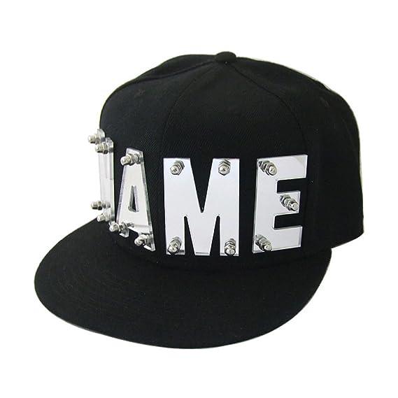 e131ee14f2df6 Amazon.com  Mirror Silver Mirror Gold Acrylic Letters Hat