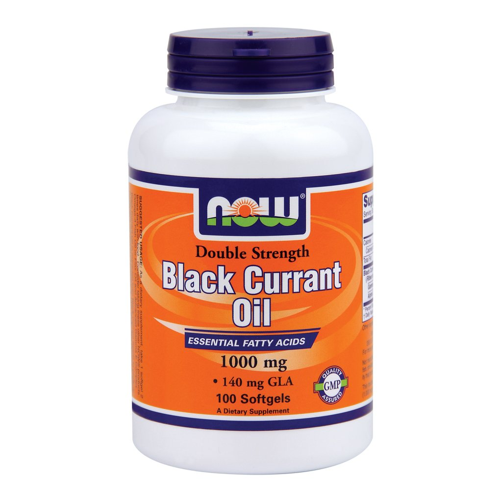 Now Foods Black Currant Oil 1000 mg - 100 Softgels 2 Pack