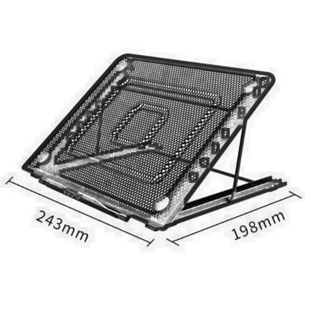 ZXL Ventilerat justerbart laptopstativ för bärbar dator surfplatta och mer 243 x 198mm 2 färger (färg: B) b