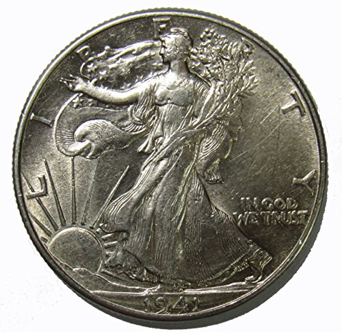 1941 P Walking Liberty Half Dollar 50c About ()