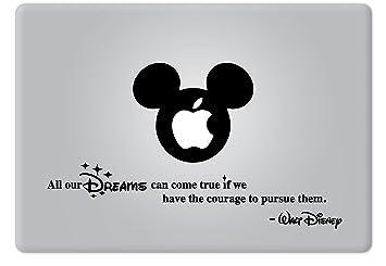 amazon com walt disney quote all our dreams can come true apple