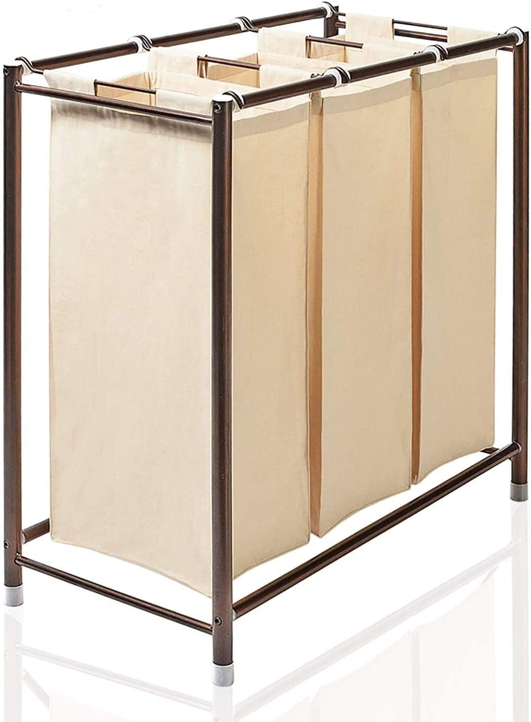 Deco Window 3-in-1 Bag Laundry Sorter for Home Clothes - Ivory