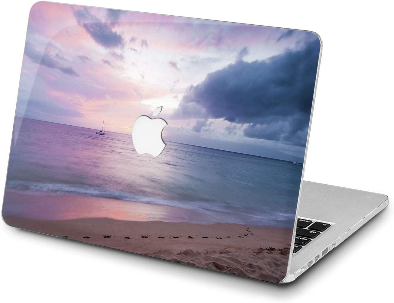 Lex Altern Hard Case for Apple MacBook Pro 15 Air 13 inch Mac Retina 12 11 2020 2019 2018 2017 2016 Beach Laptop Cover Plastic Seaside Sky Pink Purple Purple Horizon Natural Shell Girls Print Ocean