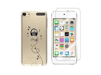 NOVAGO - Carcasa de Gel para iPod Touch 7, Touch 6, Touch 5, Resistente y Resistente + 1 Cristal de Vidrio Templado Transparente Resistente (Casco)