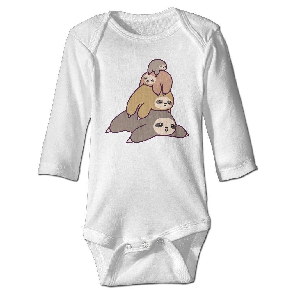 braeccesuit Infant Sloth Family Long Sleeve Romper Onesie Bodysuit Jumpsuit