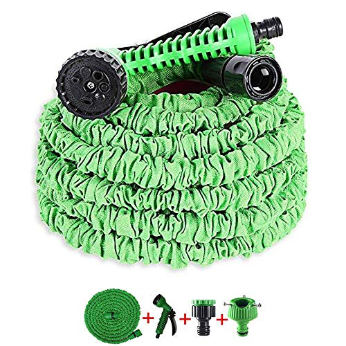 OYD Garden Hose,7-Pattern Spray Water Gun,Flexible Garden Hose Water Pipe Magic Hoses for Home, Garden, Car/Bike Wash(15m)