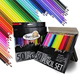 Thornton's Art Supply TAS-01520 Premium Super Soft Core Colored Pencil Artist Adult Coloring