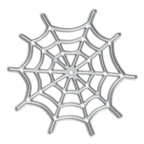 SODIAL Forma corte muere plantillas DIY album de recortes decorativo de la tela de arana