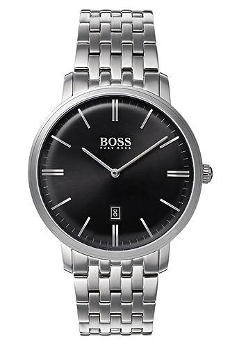 Hugo BOSS Reloj Análogo clásico para Hombre de Cuarzo con Correa en Acero Inoxidable 1513536: Amazon.es: Relojes
