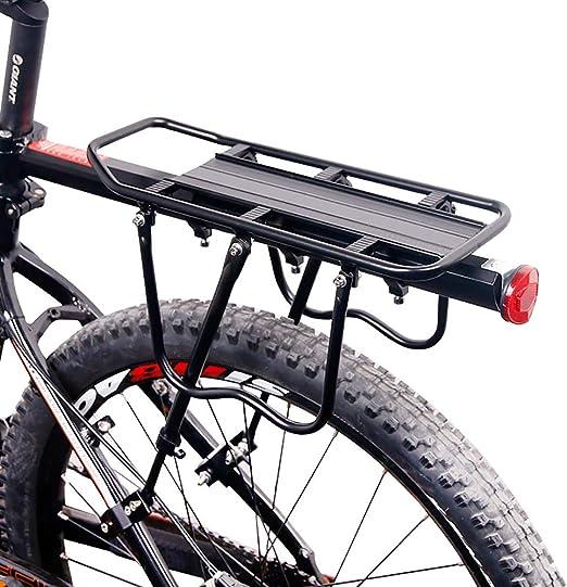 CGBOOM Portaequipajes Portabultos Bicicleta Trasero Accesorios Ajustable Aleación de Aluminio Bici Portador, Capacidad de Carga Máxima: 25 kg: Amazon.es: Jardín
