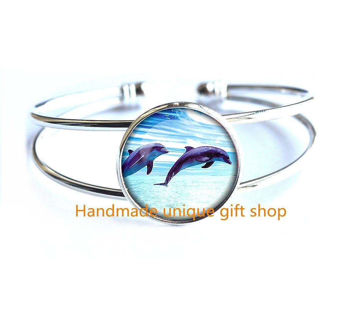 Charm Bracelet Dainty Bracelet,Dolphin Bracelets Dolphin Bracelet Dolphin jewelry nature Bracelet-RC361 Fashion Bracelet