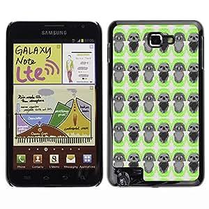 iKiki-Tech Estuche rígido para Samsung Galaxy Note i9220 N7000 - Black Skull