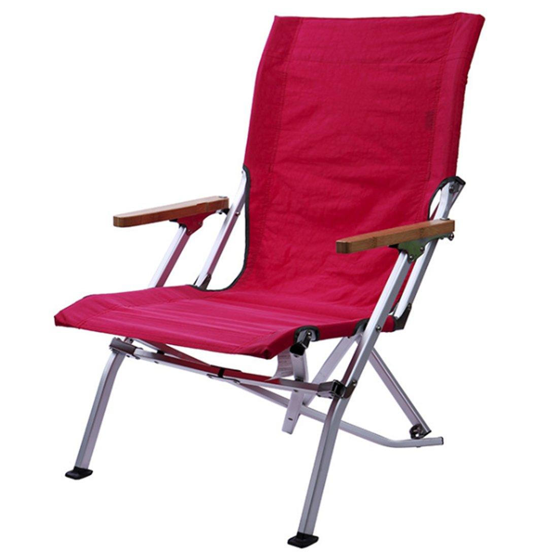 Yeying123 Übergroßer Tragbarer Camping- und Sportstuhl,ROT