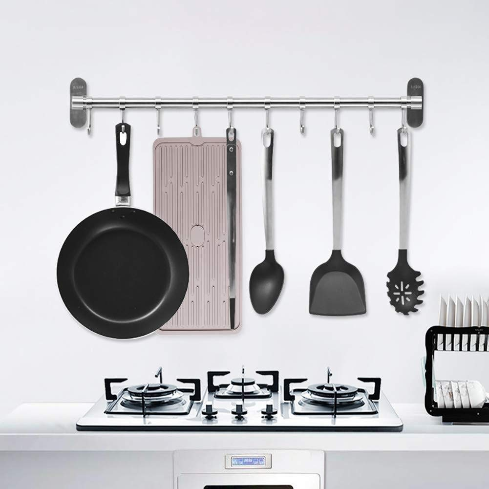 Kitchen Silicone Dish Drying Mat Dark Gray