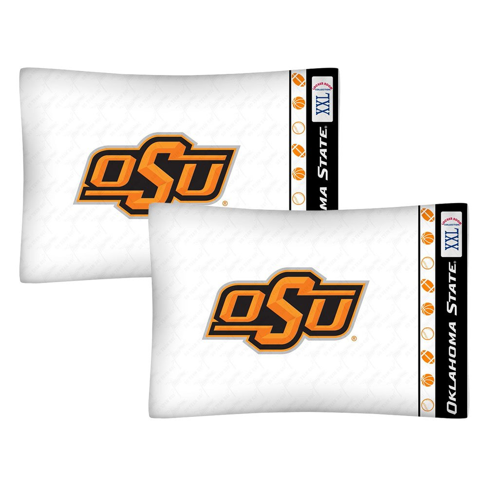 2pc NCAA Oklahoma State Cowboys Pillowcase Set College Team Logo Bedding Pillow Covers
