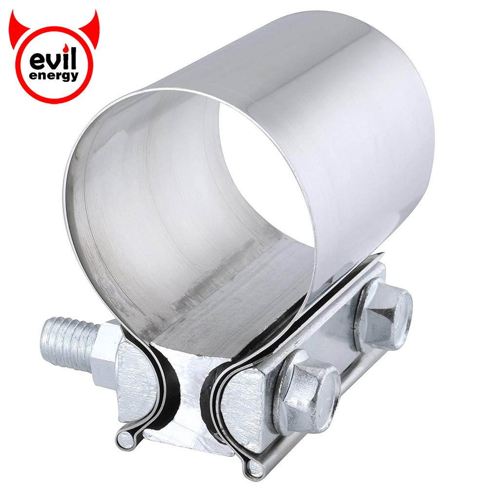 EVIL ENERGY 2.25 Inch Butt Joint Exhaust Seal Clamp Band 60mm Stainless Steel universal Muffler pipe Clamps Speedwow Tuning