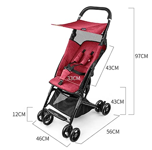 ZGP &Cochecito de bebé El Carro Plegable Ligero del bebé de Lite Puede Sentarse y mentir Plegable (Color : # 4): Amazon.es: Hogar