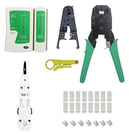 ShipeeKin - Kit de herramientas de reparación de cables 7 en 1 para red Ethernet profesional