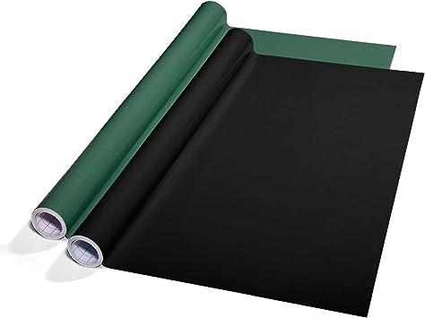 casa pura Pizarra de Tiza Pared - Vinilo Pizarra Negra | Lámina Autoadhesiva de Pizarra | para Escribir y Borrar | PVC Removible (43x300 cm): Amazon.es: Juguetes y juegos