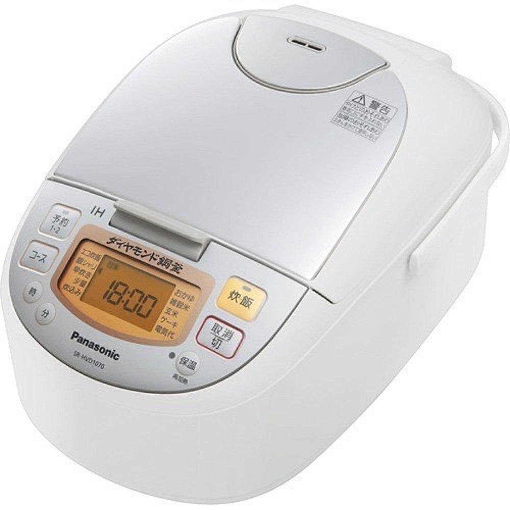 パナソニック IHジャー炊飯器 5.5合焚き シルバーホワイト SR-HVD1070-W   B07DHK3XND
