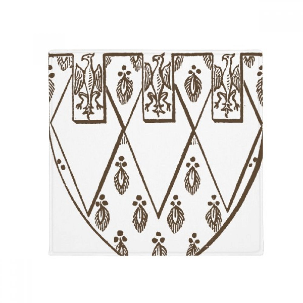DIYthinker Black White Baroque Art Feather Illustration Anti-Slip Floor Pet Mat Square Home Kitchen Door 80Cm Gift
