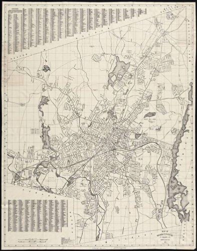 Imagekind Wall Art Print entitled Vintage Map Of Worcester Massachusetts (1919) by Alleycatshirts @Zazzle | 24 x 31 (Massachusetts Worcester Antique)