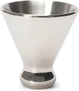Cork Pops Reflective Silver Tone 6 Ounce Freezer Gel Martini Cup Barware Accessory