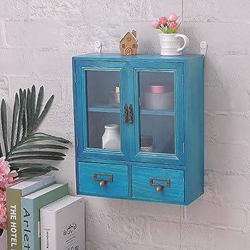 Amazon.com: XUERUI Shelves Shelf Solid Wood Wall Cabinet ...