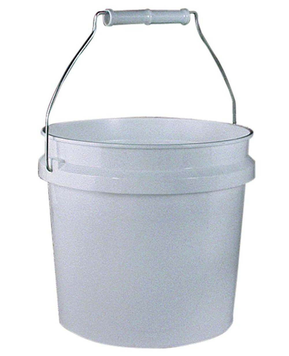 1 Gallon White Bucket with Lid & Gasket per 6 Pack