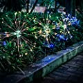 Epicgadget Solar Firework Light 105 Led Multi Color Outdoor Firework Solar Garden Decorative Lights For Walkway Pathway Backyard Christmas Decoration Parties 2 Pieces